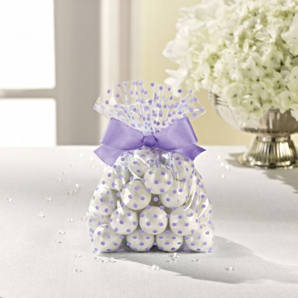 Treat Bags With Bow - Lilac